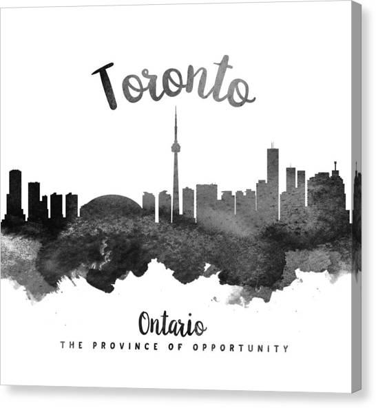 Toronto Skyline Canvas Print - Toronto Ontario Skyline 18 by Aged Pixel