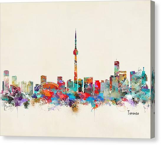 Toronto Skyline Canvas Print - Toronto Ontario Skyline by Bri Buckley