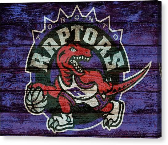 Toronto Raptors Canvas Print - Toronto Raptors Barn Door by Dan Sproul