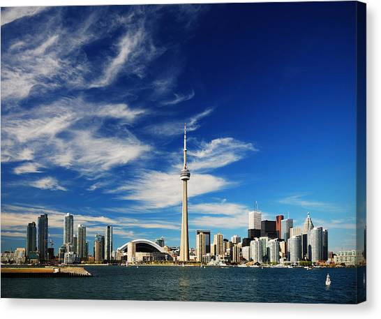 City Landscape Canvas Print - Toronto Skyline by Andriy Zolotoiy
