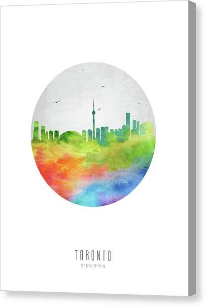Toronto Skyline Canvas Print - Toronto Skyline Caonto20 by Aged Pixel