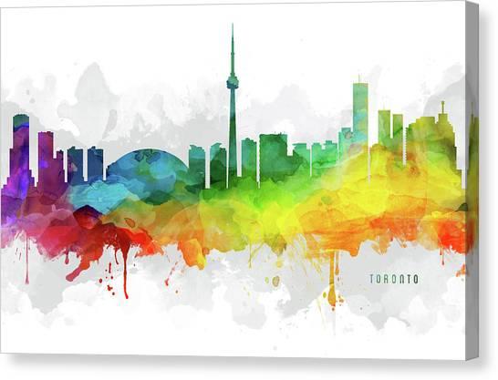 Toronto Skyline Canvas Print - Toronto Skyline Mmr-caonto05 by Aged Pixel
