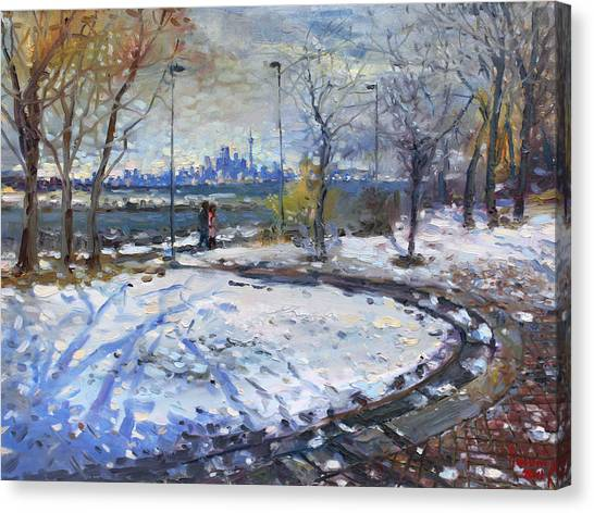 Toronto Skyline Canvas Print - Toronto Skyline by Ylli Haruni