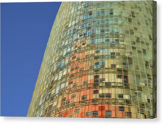 Torre Agbar Abstract Canvas Print