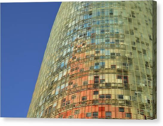 Torre Agbar  Canvas Print