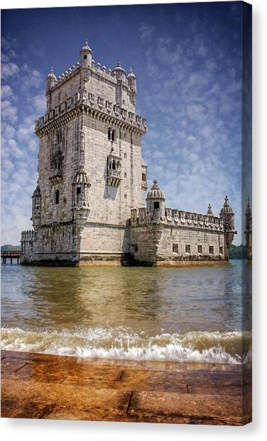 Fortification Canvas Print - Torre De Belem Lisbon Portugal  by Carol Japp