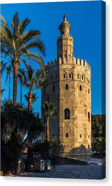 Torre Del Oro Sevilla Spain Canvas Print