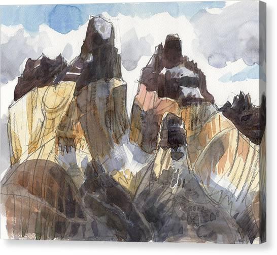 Torres Del Paine, Chile Canvas Print
