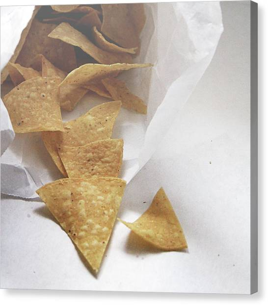 Junk Canvas Print - Tortilla Chips- Photo By Linda Woods by Linda Woods