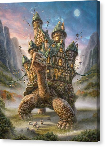 Tree Canvas Print - Tortoise House by Phil Jaeger
