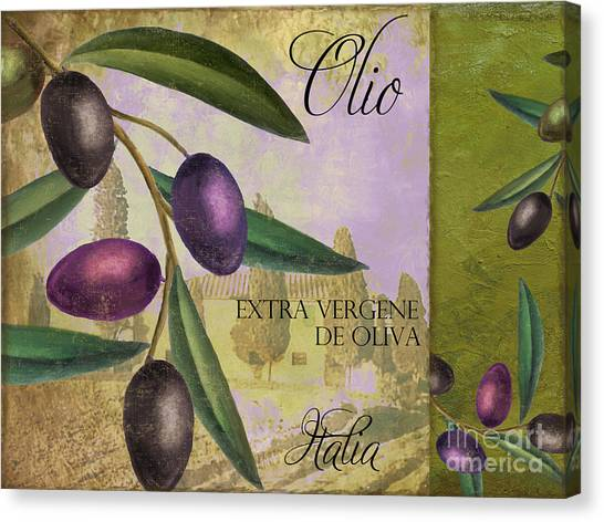 Olive Oil Canvas Print - Toscana by Mindy Sommers