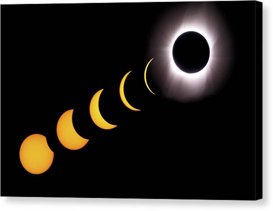 Total Eclipse Sequence, Aruba, 2/28/1998 Canvas Print