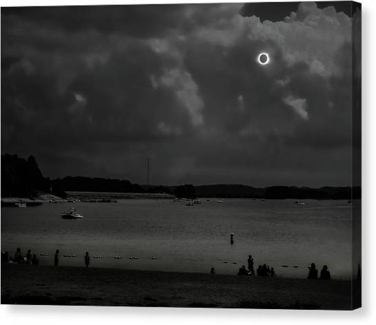 Total Solar Eclipse At Clemson Canvas Print