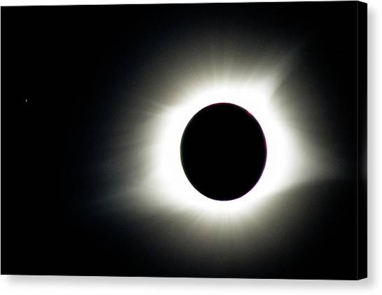 Totality And Mercury Canvas Print