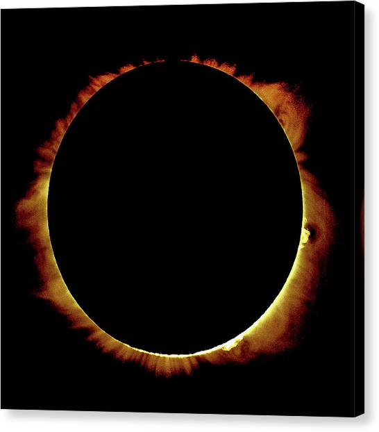 Totality Over Processed Canvas Print