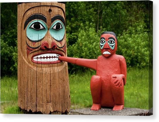 Totem Bite Canvas Print