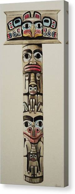 Totem Pole Canvas Print by Lucy Deane