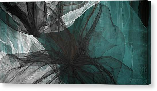 Sherwin williams canvas print touch of class black and teal art by lourry