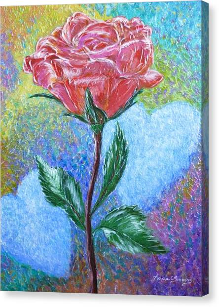 Touched By A Rose Canvas Print