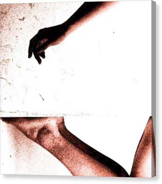 Female Nudes Canvas Print - Touch  #secondeye by Nirupam Biswas