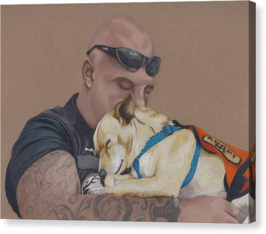 Tattoo Canvas Print - Tough Love by Stacey Jasmin
