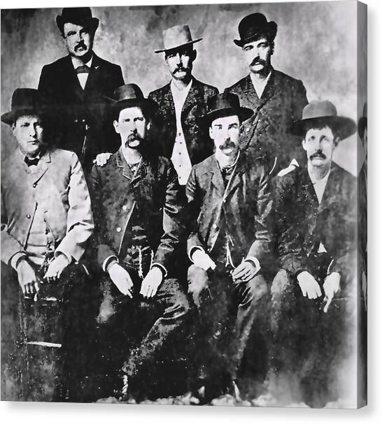 Dodge Canvas Print - Tough Men Of The Old West by Daniel Hagerman