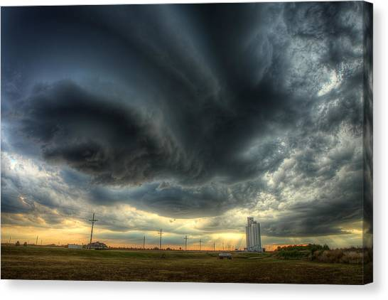 Tornadoes Canvas Print - Toulon Turmoil by Thomas Zimmerman