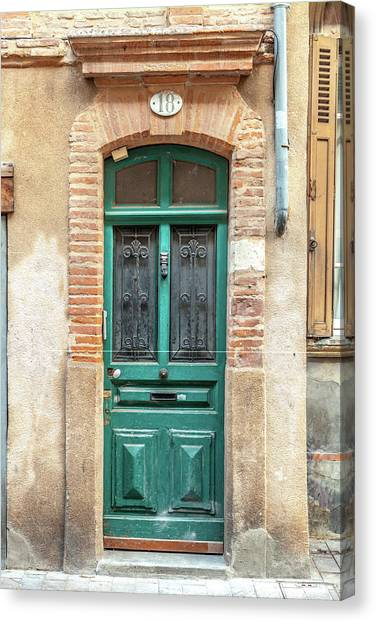Southern France Canvas Print - Toulouse Door Number 18 by W Chris Fooshee
