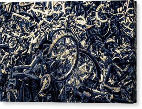Tour De Crash Canvas Print