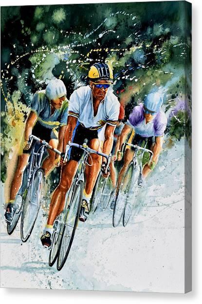Sports Canvas Print - Tour De Force by Hanne Lore Koehler