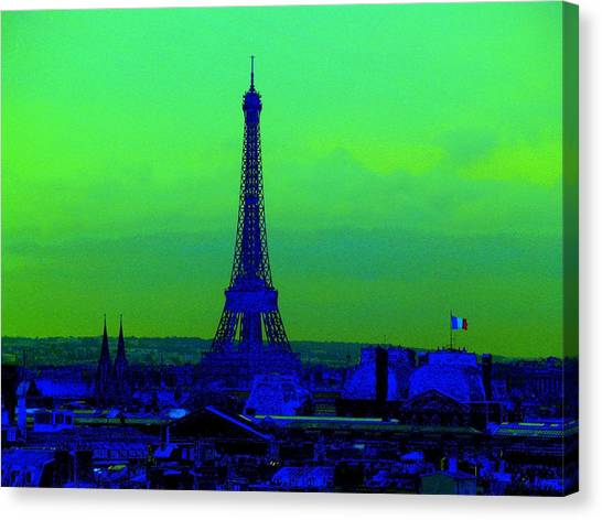 Tour Eiffel Canvas Print by Aline Kala