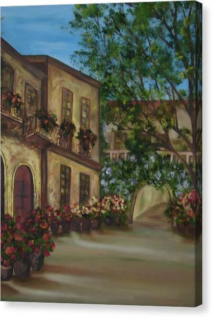 Tour Through The Villa Canvas Print by Shiana Canatella