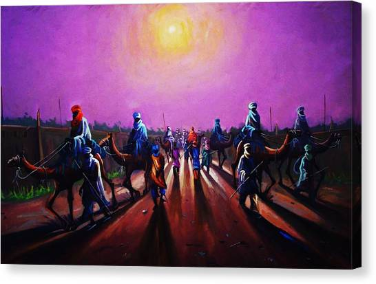 Towards Zaria Canvas Print by Aderonke ADETUNJI