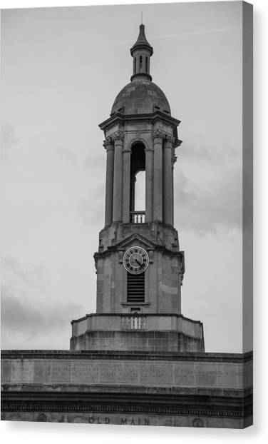 Penn State University Canvas Print - Tower At Old Main Penn State by John McGraw