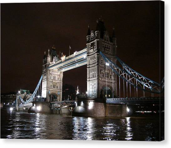 Tower Bridge By Night Canvas Print