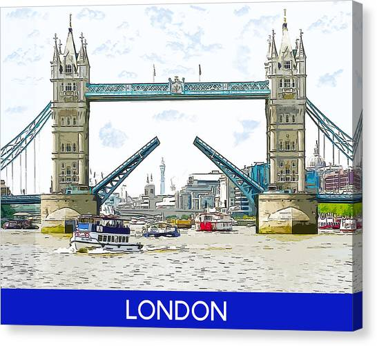 Tower Bridge London England Canvas Print