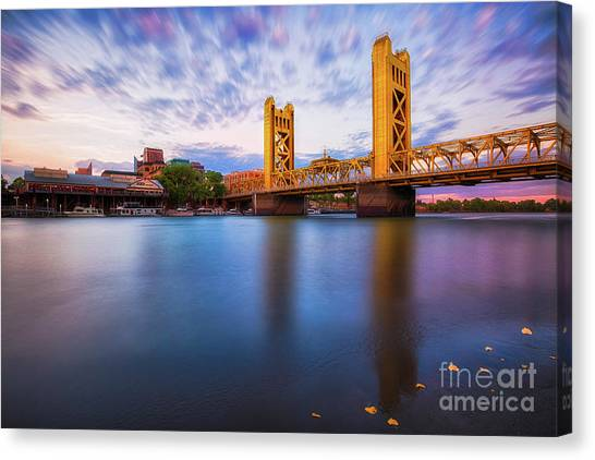 Tower Bridge Sacramento 3 Canvas Print