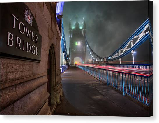 Tower Of London Canvas Print - Tower Bridge by Thomas Zimmerman