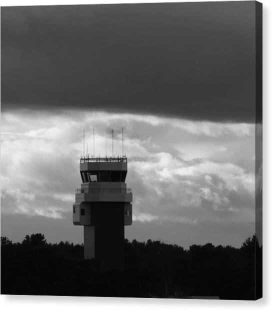 Air Traffic Control Canvas Print - Tower Closed by Bill Tomsa