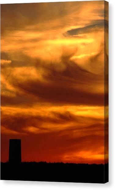 Tower In Sunset Canvas Print