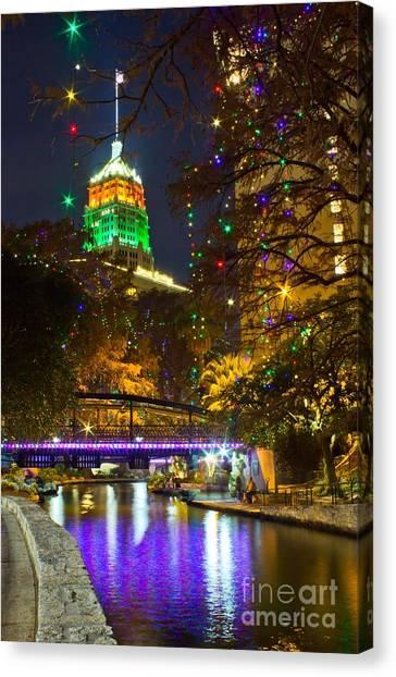 Tower Life Riverwalk Christmas Canvas Print