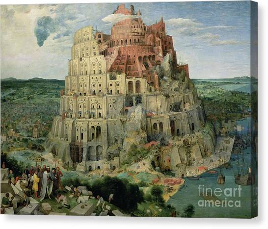 Old Testament Canvas Print - Tower Of Babel by Pieter the Elder Bruegel