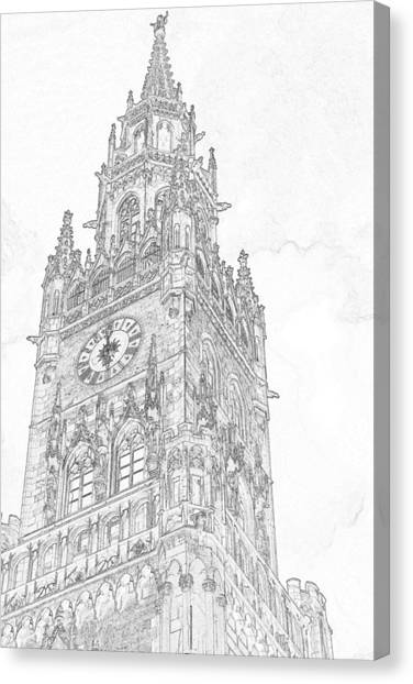 Big Ben Canvas Print - Tower Of Big Ben by Outside the door By Patt