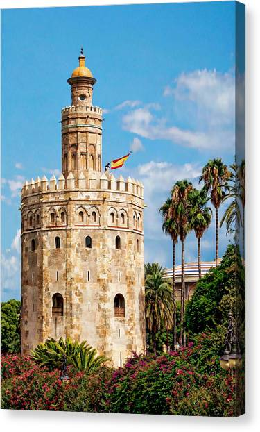 Tower Of Gold Canvas Print