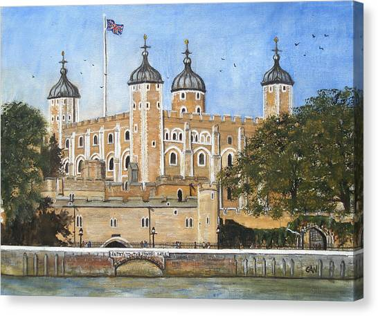 Tower Of London Canvas Print by Carol Williams