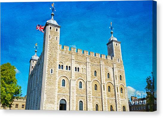 Tower Of London Canvas Print - Tower Of London by Laura D Young
