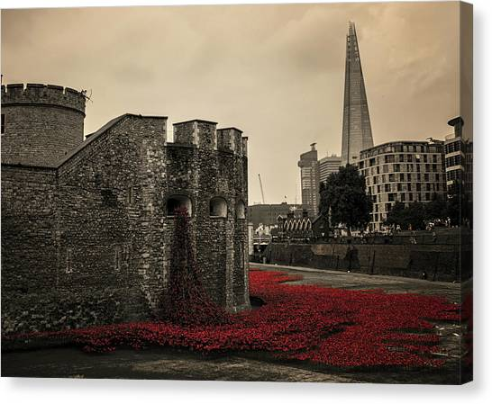 Tower Of London Canvas Print - Tower Of London by Martin Newman