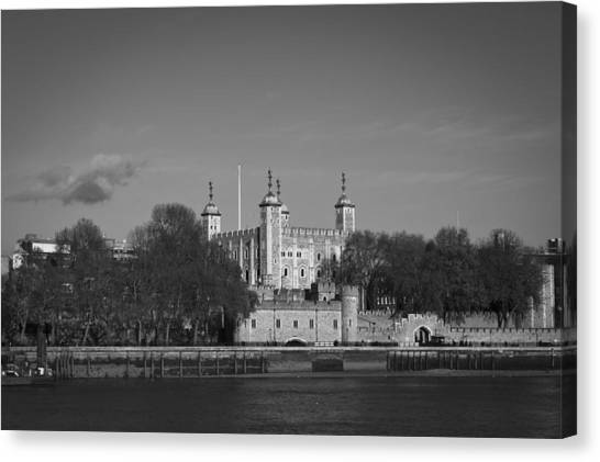Tower Of London Canvas Print - Tower Of London Riverside by Gary Eason