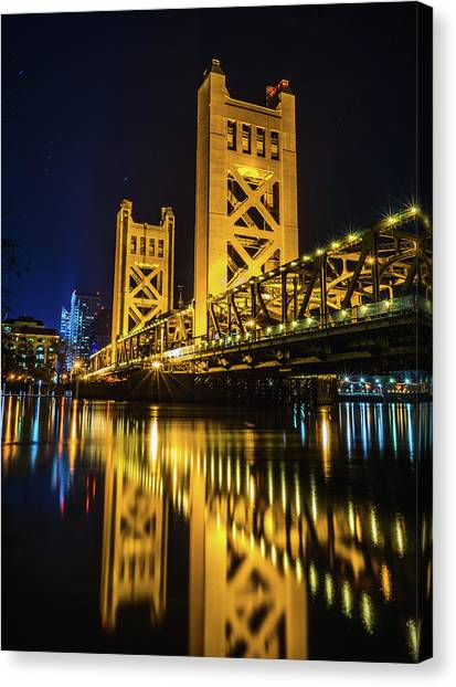 Tower Reflections Canvas Print