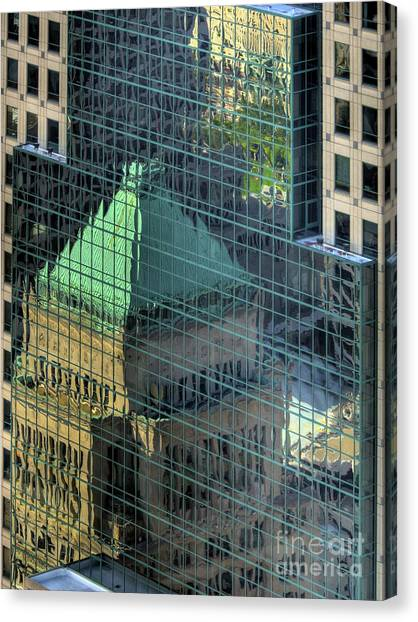 Tower Reflections Canvas Print by Mel Steinhauer